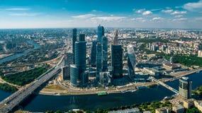 Город Москвы - MIBC, Россия Стоковая Фотография