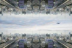 Город научной фантастики Стоковое Изображение RF