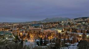 Город на зоре стоковое фото