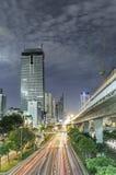Город на ноче Стоковые Изображения