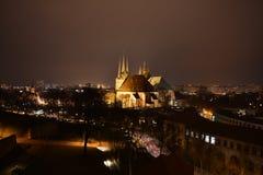 Город на ноче Стоковое Фото