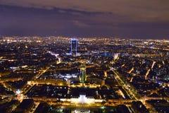 Город на ноче Стоковое Изображение