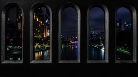 Город на ноче & x28; Melbourne& x29; Стоковое Фото