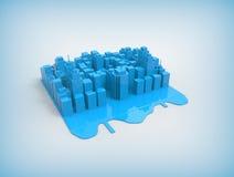 Город на предпосылке Иллюстрация вектора