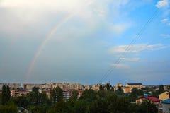 город над радугой Стоковое Изображение RF