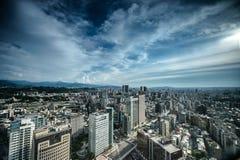 Город неба и облаков Стоковое фото RF