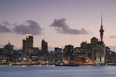 Город неба Окленда, Новой Зеландии Стоковые Изображения RF