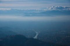 Город ниже стоковое фото