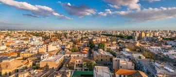 Город Никосии, панорамный взгляд старый городок Кипр стоковое изображение rf