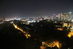 Город ночи, взгляд ночи Паттайя, Таиланда Стоковое Фото