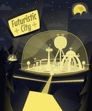 Город ночи футуристический Стоковое Фото