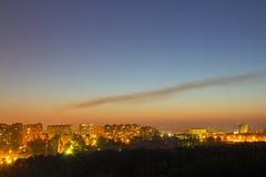 Город ночи Стоковое Изображение RF