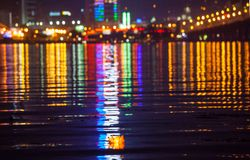Город ночи Стоковые Фотографии RF