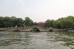 Город озера Daming, Jinan, провинция Шаньдуна, парк Китая стоковое фото