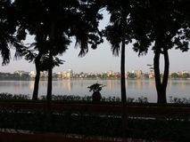 Город озера Hai Duong Вьетнама Стоковые Фото