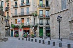 Городок Барселоны старый, рожденный квартал Стоковая Фотография