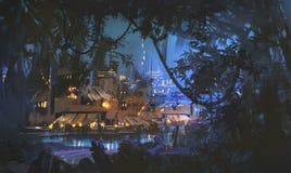 Городок болота Стоковые Фотографии RF