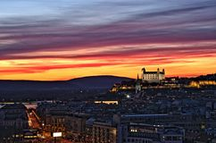 Городок Братиславы в Словакии Стоковое Фото