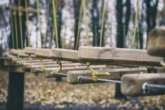 Городок веревочки в парке города Стоковые Фото