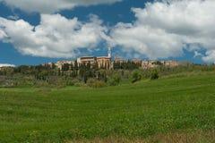 Городок вершины холма, Тоскана Стоковое Фото