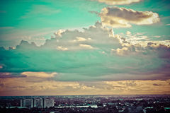 Городок взгляда Бангкока Стоковые Изображения