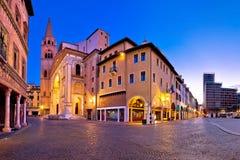 Городок взгляда улицы Mincio sul Valeggio Стоковое Изображение RF