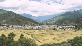 Городок в Бутане Стоковые Изображения RF