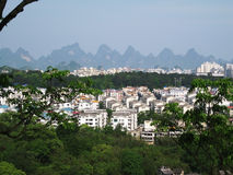 Городок в горах Стоковое Изображение