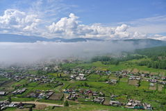 Городок в горах Стоковое фото RF