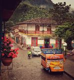 Городок в Колумбии Стоковое Изображение RF