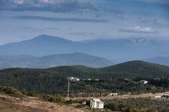 Городок в долине горы Стоковая Фотография RF