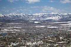 Городок в долине Стоковые Изображения