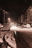 Городок в снеге зимы Стоковые Фотографии RF