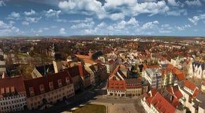 Городок Германия Саксония-Anhalt вида с воздуха Zeitz старый Стоковые Фотографии RF