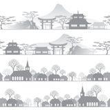 Городок горизонта Стоковые Фотографии RF