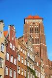 Городок Гданьск старый, Польша Стоковая Фотография