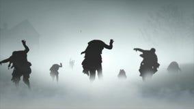 Городок дезертированный апокалипсисом 4K зомби иллюстрация штока