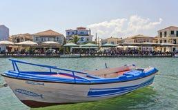 Городок лефкас, Греция стоковая фотография
