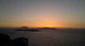 городок захода солнца sim гор ural Стоковое фото RF