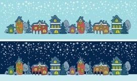 Городок зимы Стоковое Изображение