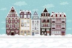 Городок зимы Стоковое Изображение RF