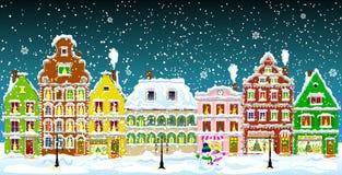 Городок зимы иллюстрация штока