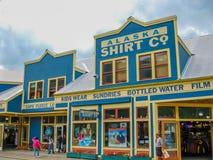 Городок золотой лихорадки, Skagway, Аляска Стоковая Фотография