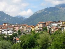 Городок Италия деревни Беллуно стоковое фото rf