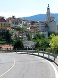 Городок Италия дороги Беллуно стоковые фото