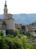 Городок Италия церков Беллуно Стоковая Фотография RF