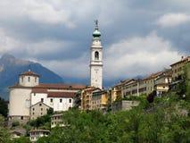 Городок Италия церков Беллуно Стоковое Изображение RF