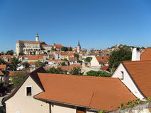 Городок и замок Mikulov Стоковые Фотографии RF