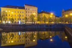 Городок и здание Праги старые стоковое изображение rf