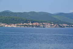 Городок и остров Korcula в Далмации, Хорватии Стоковая Фотография RF